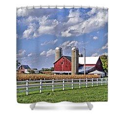 Elkhart County Farm Shower Curtain
