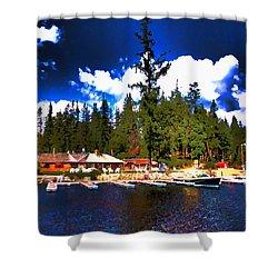 Elkins Resort Shower Curtain by David Patterson