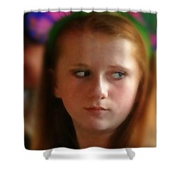 Shower Curtain featuring the painting Ella by Mindy Newman