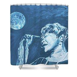 Ella Singing 'blue Moon' Shower Curtain