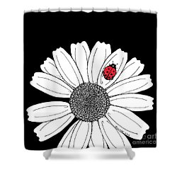 Ella's Daisy Shower Curtain by Billinda Brandli DeVillez