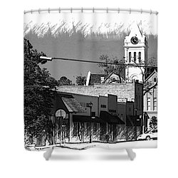 Ellaville, Ga - 3 Shower Curtain