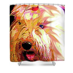Ellie Shower Curtain by Alene Sirott-Cope