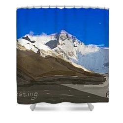 Elliptigo Everesting Shower Curtain
