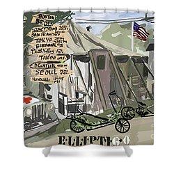 Elliptigo  In The Army Shower Curtain