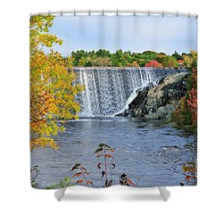 Ellsworth, Maine Dam Shower Curtain