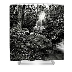 Elora Falls In Black And White Shower Curtain