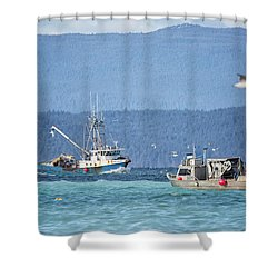 Shower Curtain featuring the photograph Elora Jane by Randy Hall