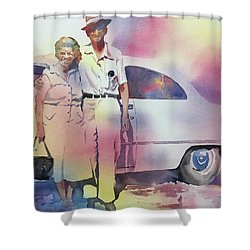 Elsie And Barney Shields Shower Curtain