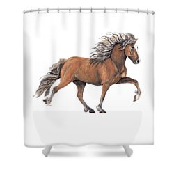 Shower Curtain featuring the painting Elska by Shari Nees