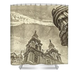 Elte State University Building Budapest Shower Curtain