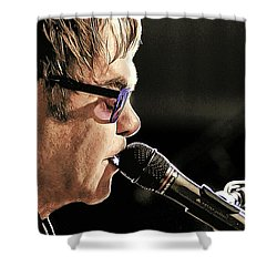 Elton John At The Mic Shower Curtain