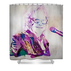 Elton John Shower Curtain by Dan Sproul