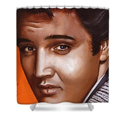 Elvis 24 1957 Shower Curtain by Rob De Vries