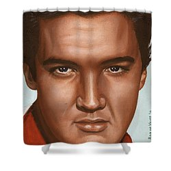 Elvis 24 1958 Shower Curtain by Rob De Vries