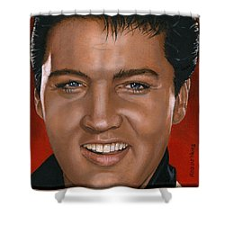 Elvis 24 1964 Shower Curtain by Rob De Vries
