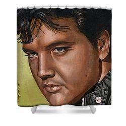 Elvis 24 1967 Shower Curtain by Rob De Vries