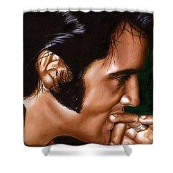 Elvis 24 1969 Shower Curtain by Rob De Vries