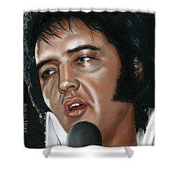 Elvis 24 1975 Shower Curtain by Rob De Vries