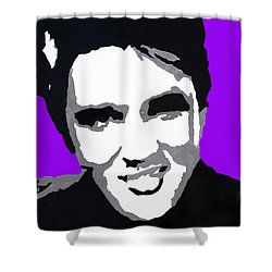 Shower Curtain featuring the drawing Elvis Don't Live Here Anymore by Robert Margetts