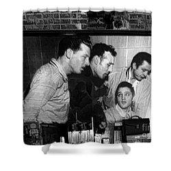 Elvis, Jerry Lee, Johnny Cash Sun Studio Memphis  Shower Curtain