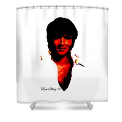 Elvis By Loxi Sibley Shower Curtain by Loxi Sibley