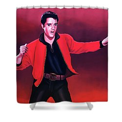 Elvis Presley 4 Painting Shower Curtain by Paul Meijering