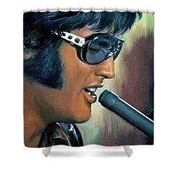 Elvis Presley Art 15 Shower Curtain