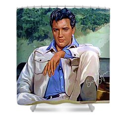 Elvis Presley Art 18 Shower Curtain