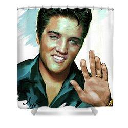 Elvis Presley Art 2 Shower Curtain