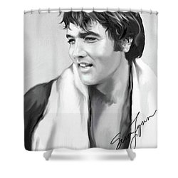 Elvis Presley Art 25 Shower Curtain