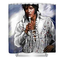 Elvis Presley Art 9 Shower Curtain