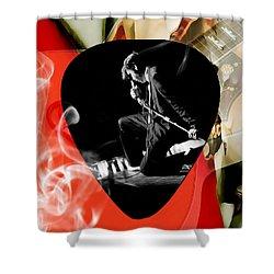 Elvis Presley Art Shower Curtain by Marvin Blaine
