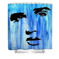 Elvis Presley Blue  Shower Curtain by Shawn Brandon