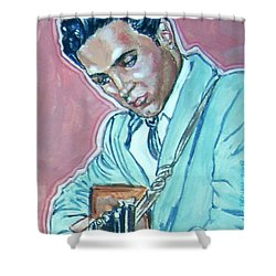 Elvis Presley Shower Curtain by Bryan Bustard