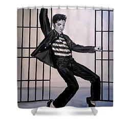 Elvis Presley Jailhouse Rock Shower Curtain