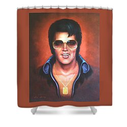 Elvis Presley Shower Curtain by Loxi Sibley