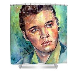 Elvis Presley Portrait Shower Curtain