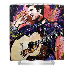 Elvis Presley Shower Curtain by Richard Day