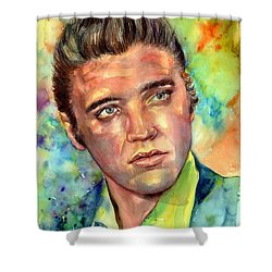 Elvis Presley Watercolor Shower Curtain