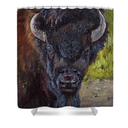 Elvis The Bison Shower Curtain