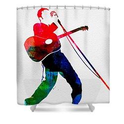 Elvis Watercolor Shower Curtain by Naxart Studio