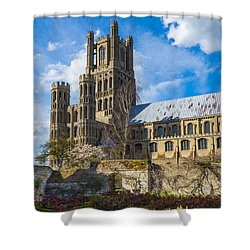 Ely Cathedral And Garden Shower Curtain