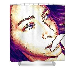 Shower Curtain featuring the digital art Ely by Ely Arsha