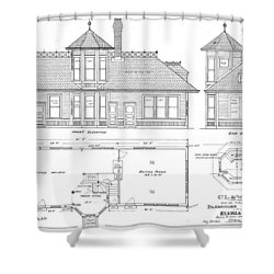 Elyria, Oh Station Shower Curtain