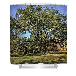 Emancipation Oak Tree Shower Curtain