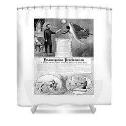 Emancipation Proclamation Shower Curtain by War Is Hell Store