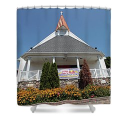 Emanuel Lutheran Church  Patchogue Ny Shower Curtain