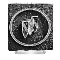 Shower Curtain featuring the photograph Emblem Mono by Dennis Hedberg