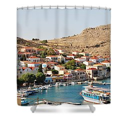 Emborio Village On Halki Shower Curtain